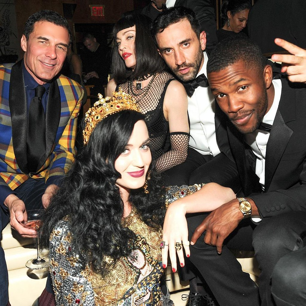 Katy Perry sat with Madonna and Frank Ocean. Source: Neil Rasmus/BFAnyc.com