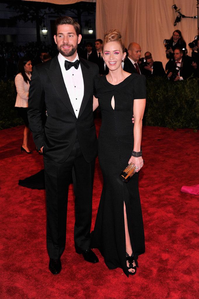 Emily Blunt and John Krasinski at the Met Gala 2013.