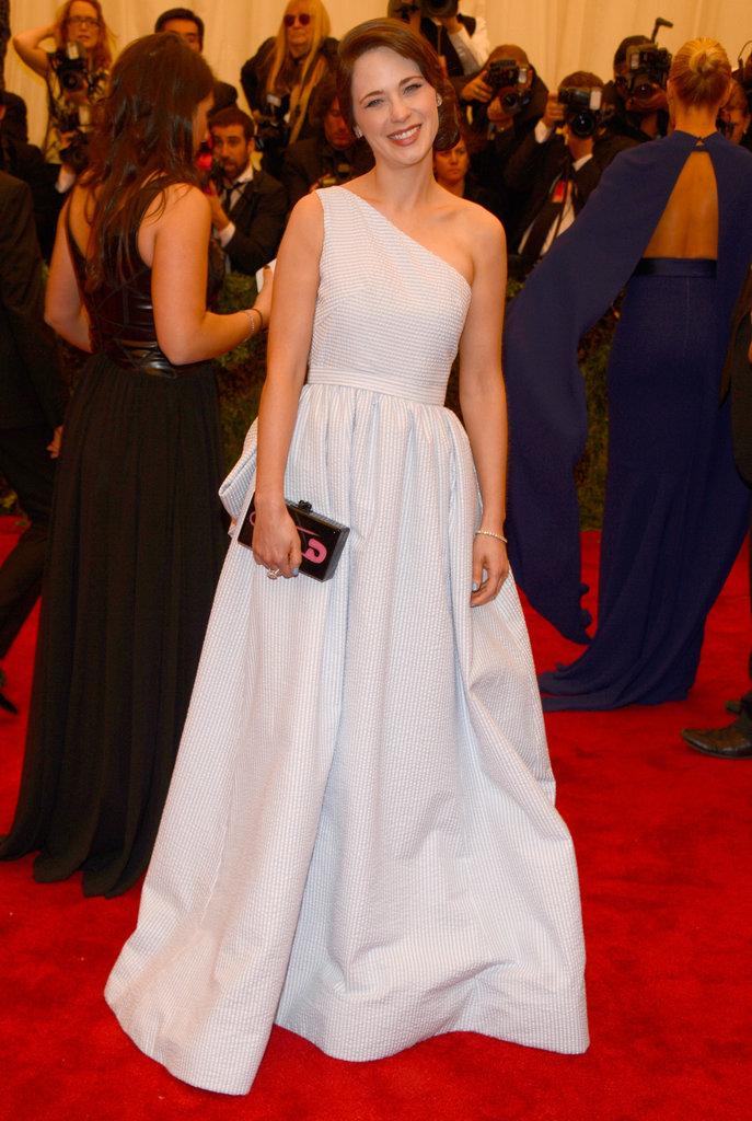 Zooey Deschanel at the Met Gala 2013.