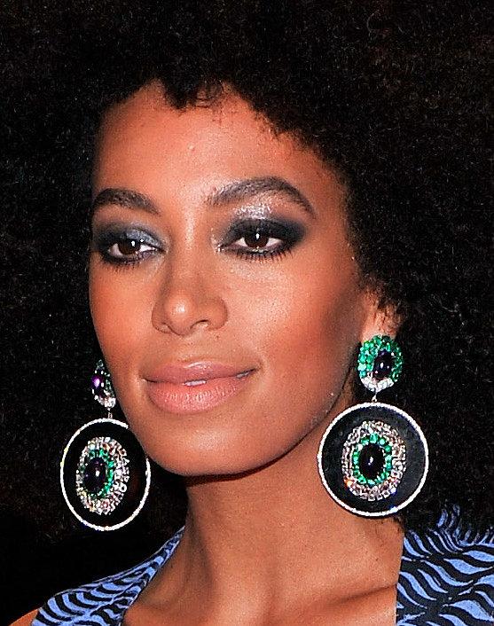 Solange Knowles wore bold Lorraine Schwartz earrings.