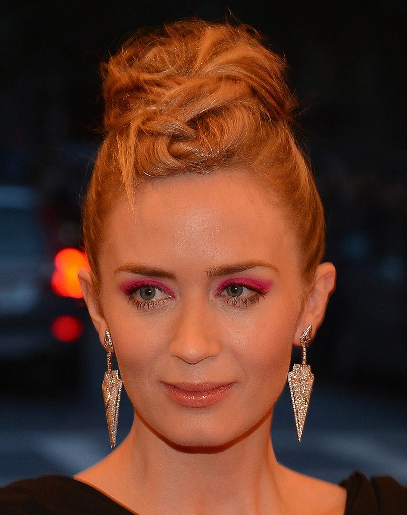 Emily Blunt wore Lorraine Schwartz earrings.