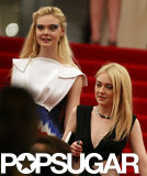 Elle Fanning and Dakota Fanning left the Met Gala together.