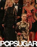 Amanda Seyfried and Anne Hathaway crossed paths while leaving the Met Gala.