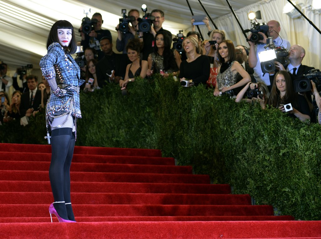 The staircase was a perfect backdrop for Madonna's posing session.