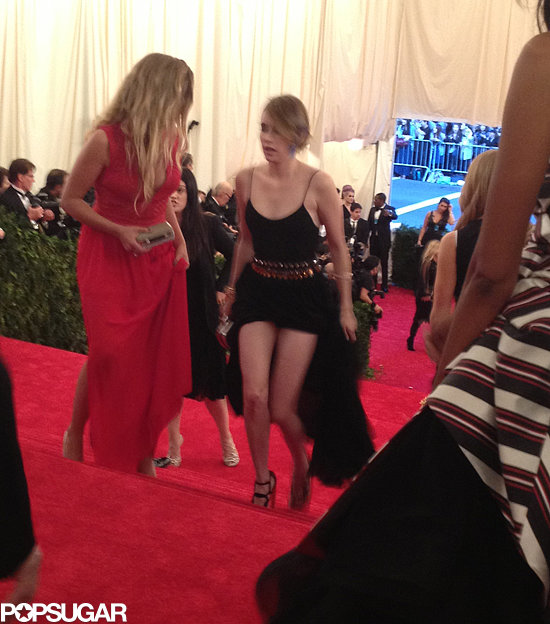 Emma Roberts hiked up her dress to prevent a Met Gala stairs disaster.