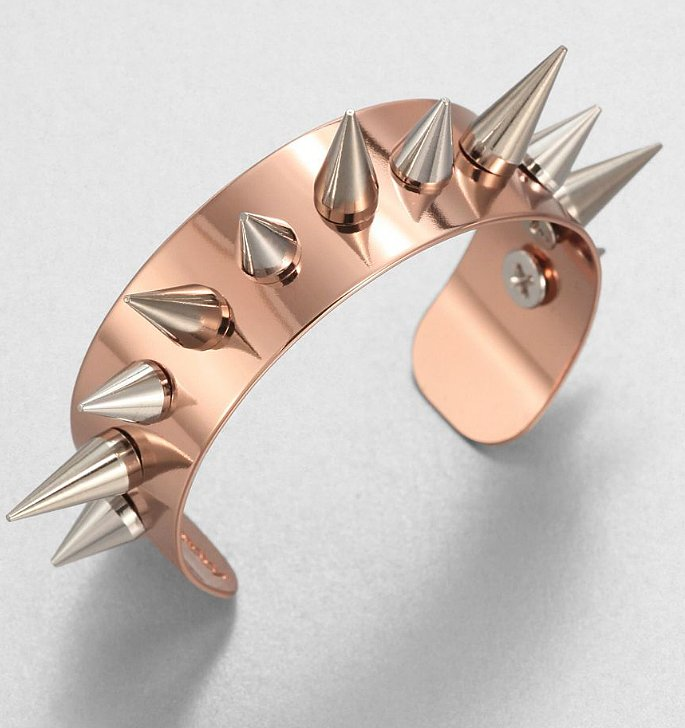 If you want to appear every bit the tough chick, this Joomi Lim Two-Tone Spike Cuff ($170) will help you achieve that — instantly. Need further proof of our theory? Just gawk at Ivanka Trump's Met Gala bracelets.