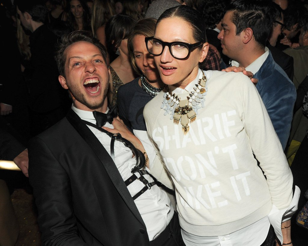 Derek Blasberg and Jenna Lyons. Source: Neil Rasmus/BFAnyc.com