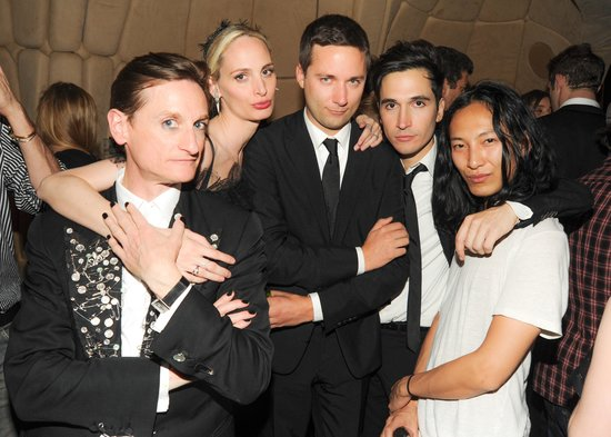 Hamish Bowles, Lauren Santo Domingo, Jack McCollough, Lazaro Hernandez, and Alexander Wang. Source: Neil Rasmus/BFAnyc.com
