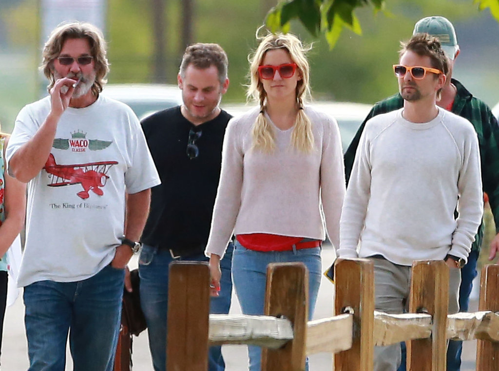 Kurt Russell joined Kate Hudson and Matthew Bellamy for a wine-tasting tour on Monday.