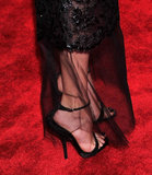 Diane Kruger added just a pair of strappy heels to her lacy gown.