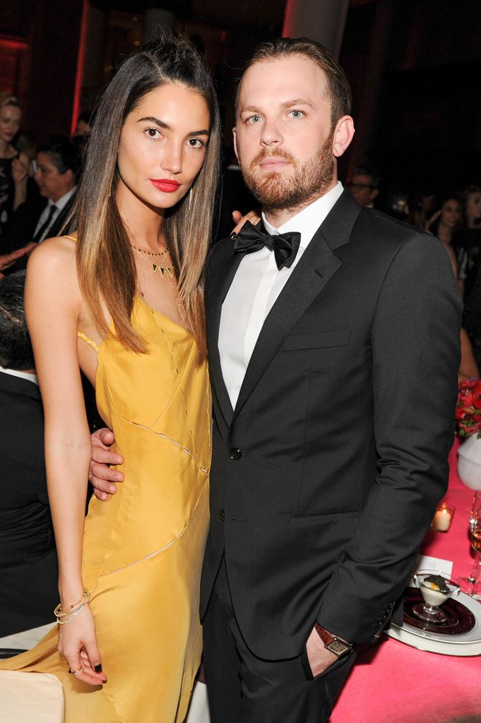 Lily Aldridge and Caleb Followill held each other tight during the Met Gala dinner on Monday.  Source: Billy Farrell/BFANYC.com