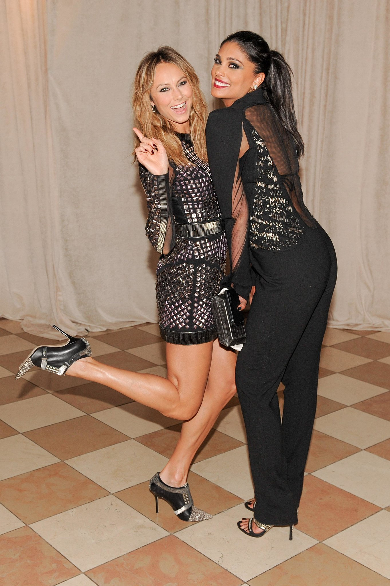 Stacy Keibler had a ball with Rachel Roy inside the Met G
