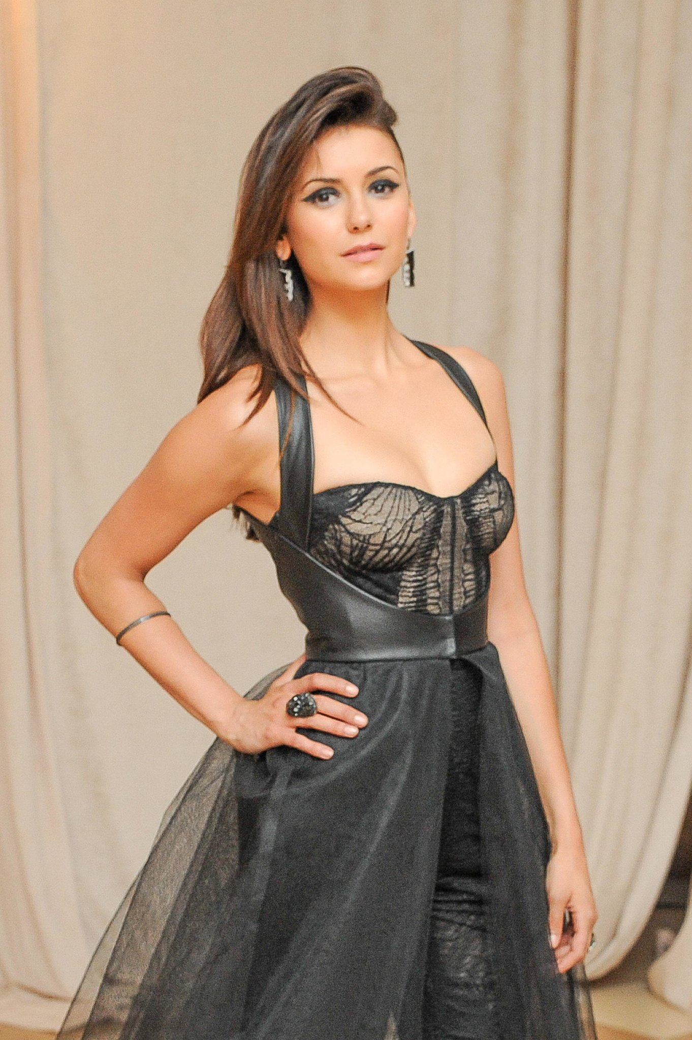 Nina Dobrev made a stunning entrance inside the Met Gala.  Source: Billy Farrell/BFANYC.