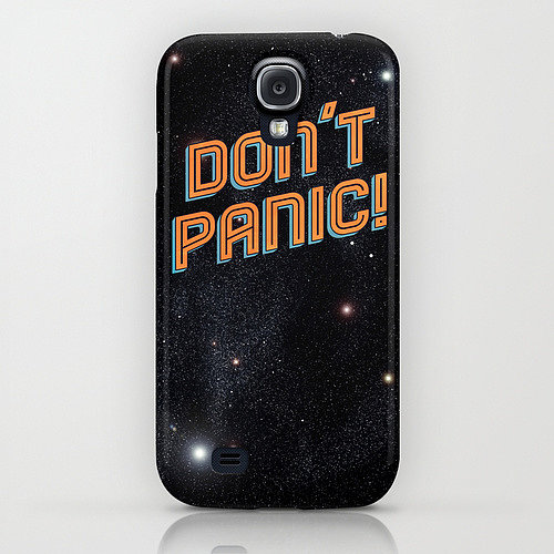 Words to live by, according to The Hitchhiker's Guide to the Galaxy: Don't Panic! ($35).
