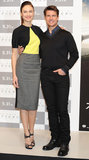 Yesterday, Tom Cruise and Olga Kurylenko attended a press conference in Japan.