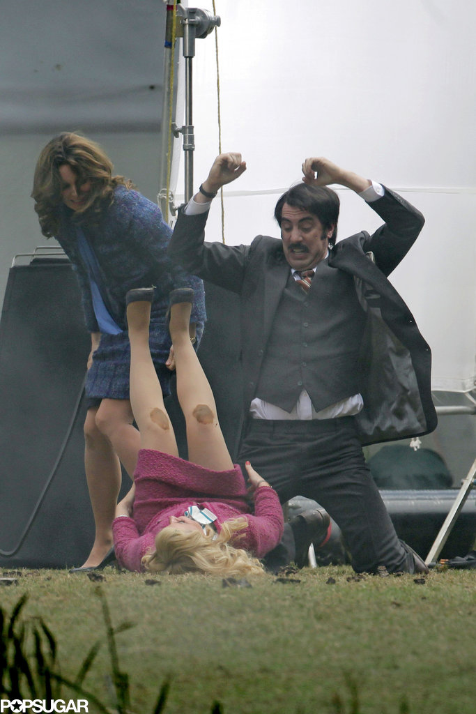 Tina Fey, Amy Poehler, and Sacha Baron Cohen got into a fight on set.