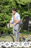 Zac Efron showed his abs on the Townies set.