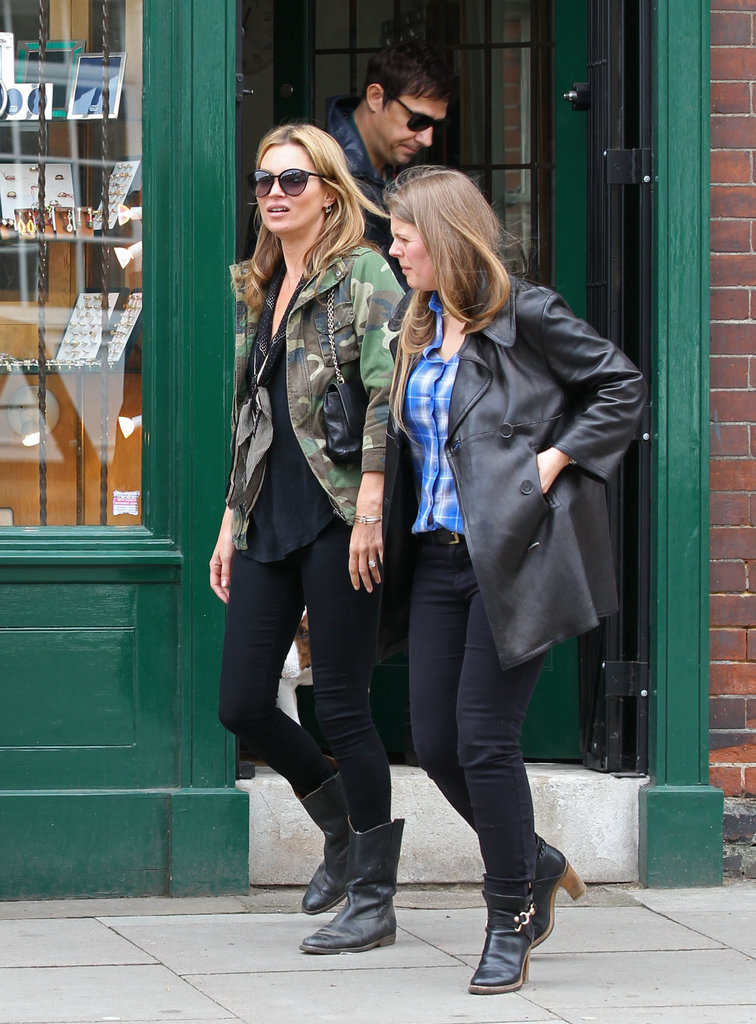 Kate Moss, Jamie Hince, and a friend stopped by a jewelry store in London on Wednesday.
