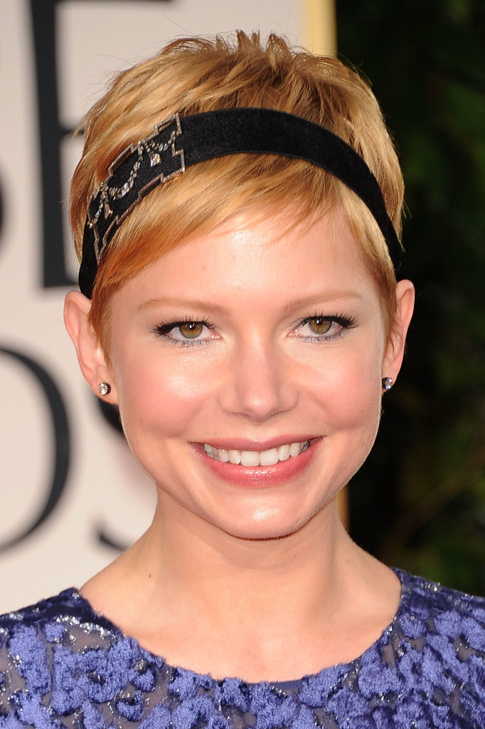 Michelle Williams's sweet pixie and mod headband at the Golden Globes in 2012 is a perfect updated take on Gatsby-era beauty.