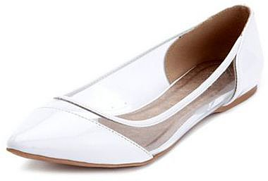 Clear Side Pointy Toe Ballet Flat