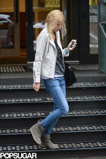 Gwyneth Paltrow left her NYC building.