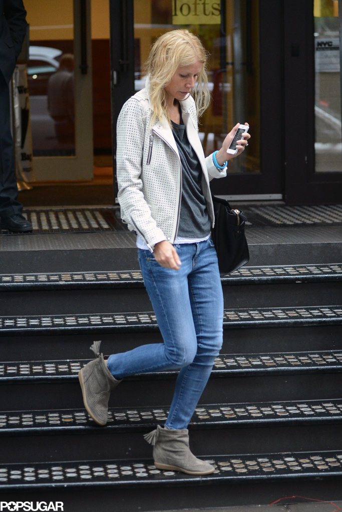 Gwyneth Paltrow was dressed down in NYC.
