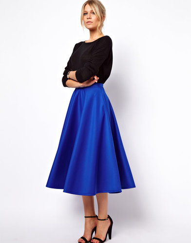 ASOS Full Midi Skirt in Scuba