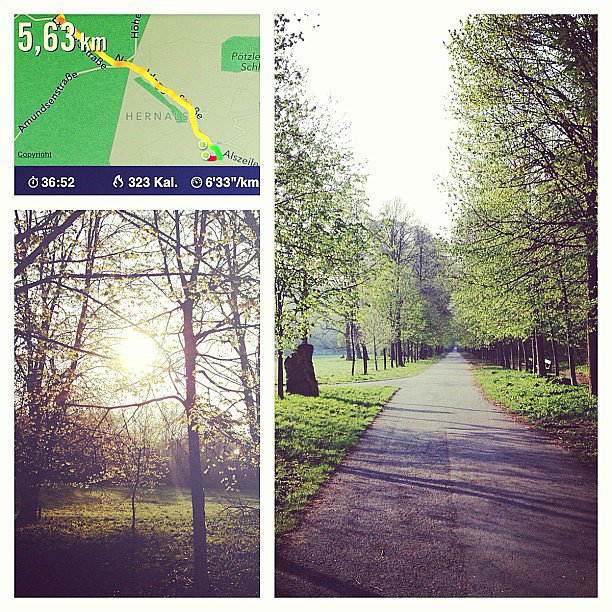 "This reader couldn't have said it better, ""Running is cheaper than therapy."" Source: Instagram user kiwwah"