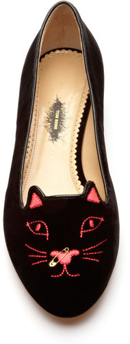 Charlotte Olympia x Tom Binns Kitty Anarchy Flat