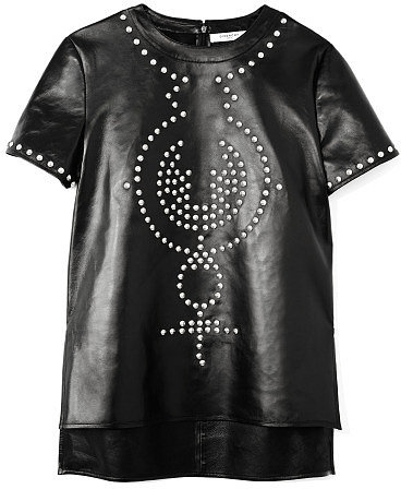 Givenchy Embellished Leather Tee