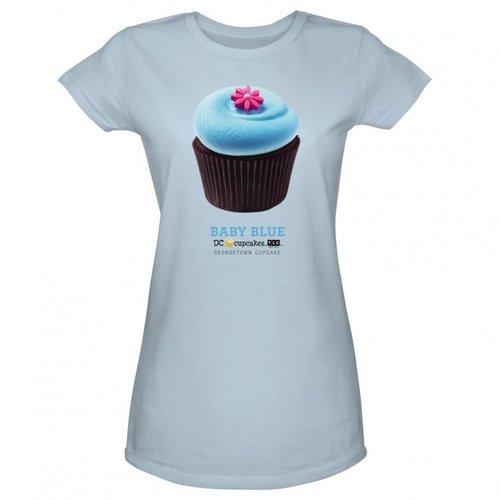 DC Cupcakes Flavors Women's Baby Blue T-Shirt