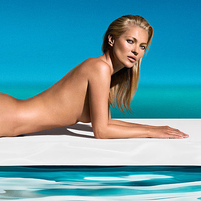 Kate Moss Nude in St Tropez Ad Pictures