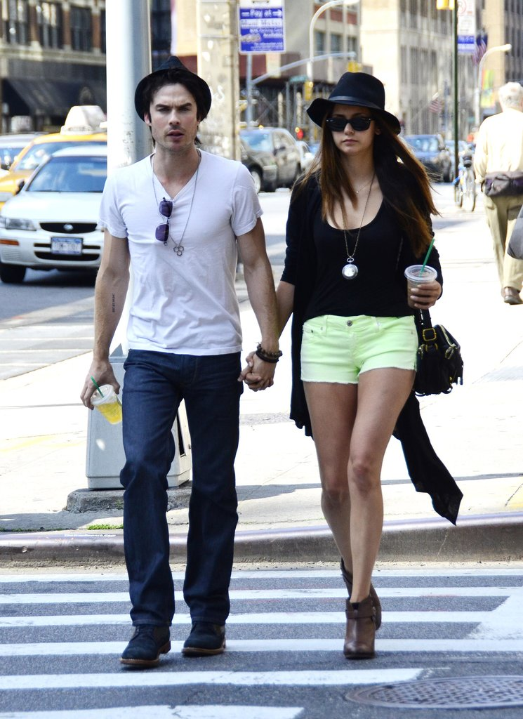 Nina Dobrev and Ian Somerhalder strolled through the streets of NYC in May 2012.