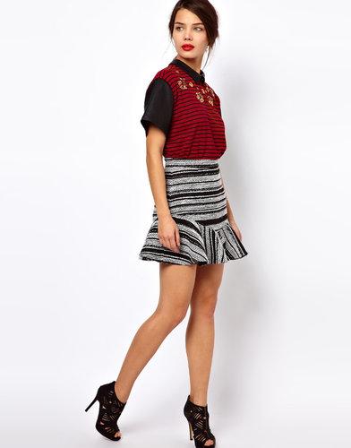 Three Floor Frenzy Stripe Skirt