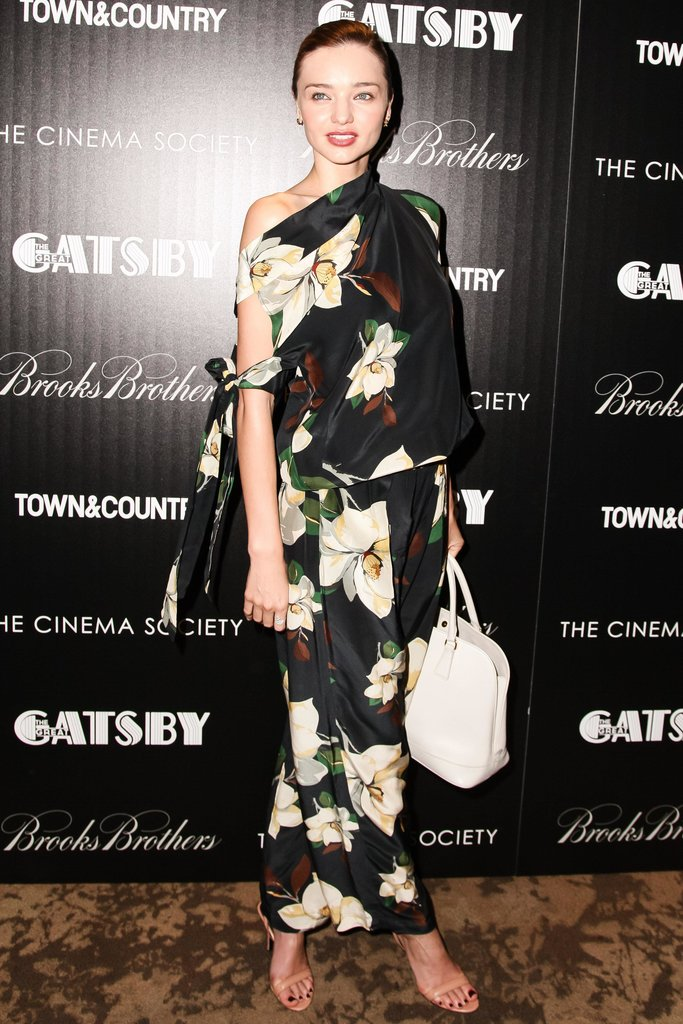 Miranda Kerr wore Fall 2013 Vivienne Westwood at The Great Gatsby's screening in New York. Source: Matteo Prandoni/BFAnyc.com