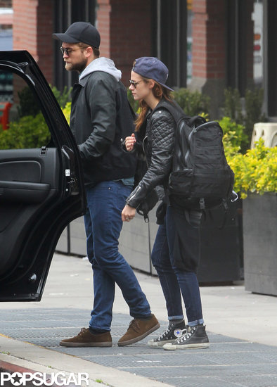 Kristen Stewart and Robert Pattinson hopped into a waiting car.
