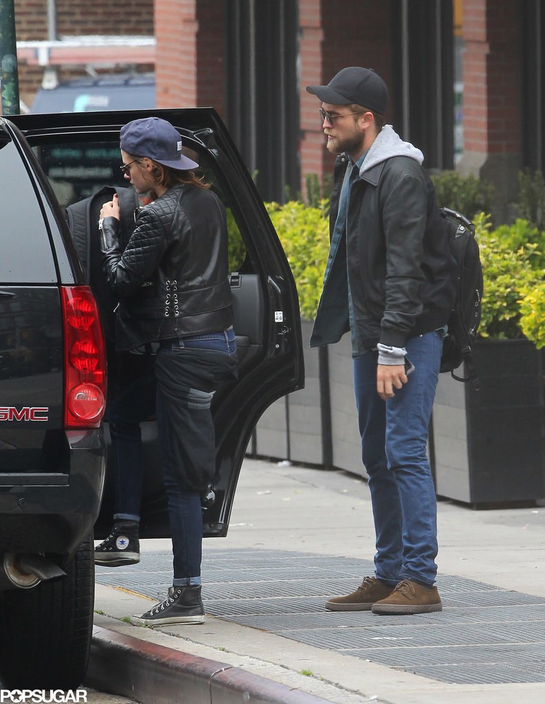 Robert Pattinson and Kristen Stewart got into a car outside of their NYC hotel.
