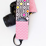 Lattice and Chevron Camera Strap