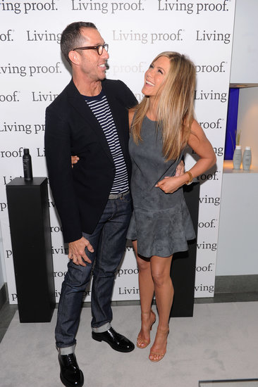 Jennifer Aniston promoted her Living Proof web series with her hairstylist, Chris McMillan, in NYC.