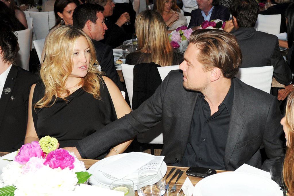 Leonardo DiCaprio chatted with Kate Hudson at a charity dinner in Malibu in June 2011. Source: Billy Farrell/BFAnyc.com