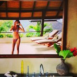 Gisele Bundchen snapped a bikini pic while relaxing at a tropical resort. Source: Instagram user giseleofficial