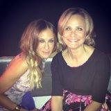Sarah Jessica Parker posed with comedian Amy Sedaris at an event. Source: Instagram user bravoandy
