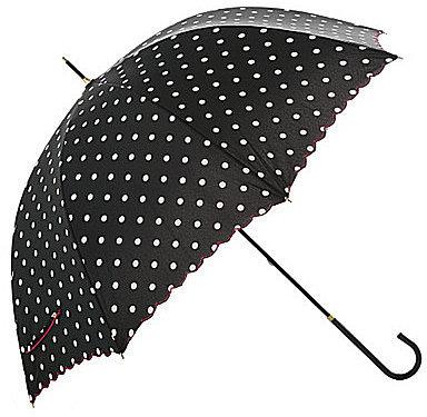 [SOUP]ドットプリントスカラップ晴雨兼用長傘