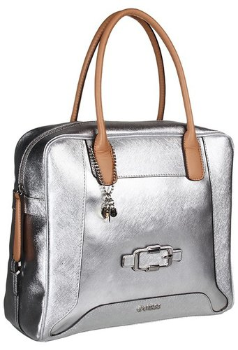 GUESS - Verdugo Large Box Satchel (Silver) - Bags and Luggage