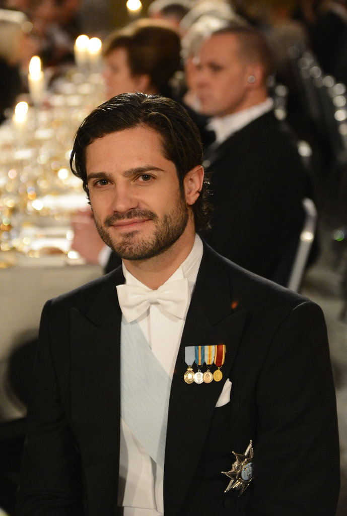 Between the scruff and his smirk, we're sold on his look at the 2012 Nobel Banquet in Sweden.