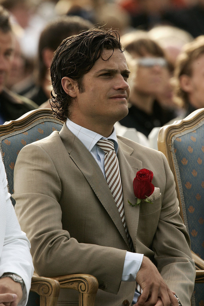 In 2004, Prince Carl Philip went to an event for Princess Victoria's birthday.
