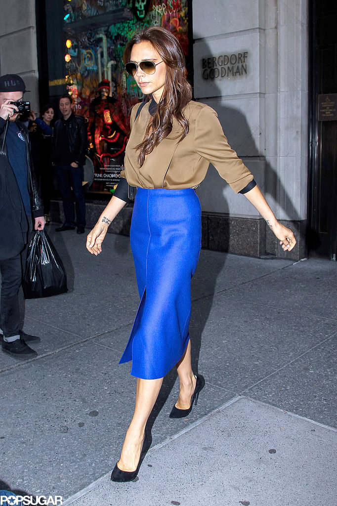 Victoria Beckham spent the day running errands in NYC.