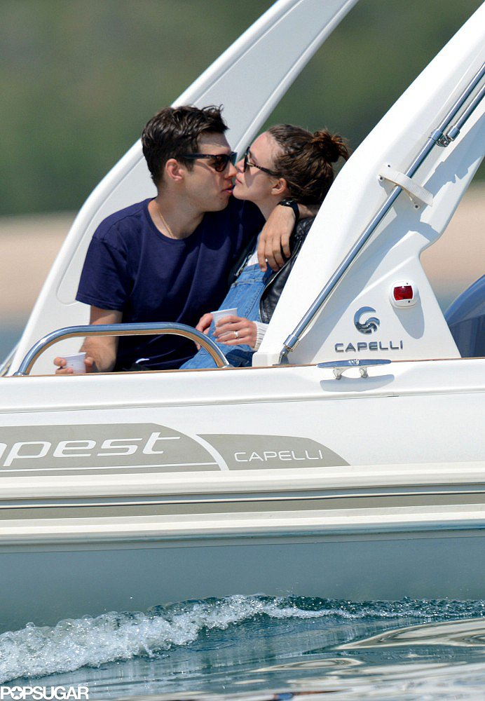 Newlyweds Keira Knightley and James Righton kissed on their honeymoon in Corsica.
