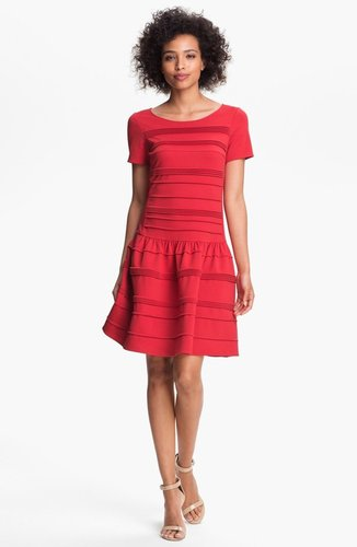Eliza J Seamed Drop Waist Dress