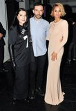 Marina Abramović, Riccardo Tisci, and Ciara (wearing Givenchy) at the Tate Americas Foundation Artists dinner in New York. Source: Leandro Justen/BFAnyc.com